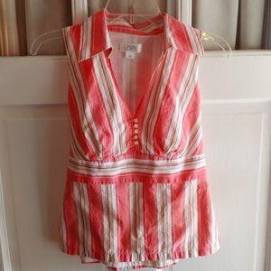 Ann Taylor Loft Vintage sleeveless dress shirt